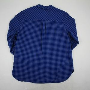 J. Crew Women's Button Down Blouse Size 14 Blue